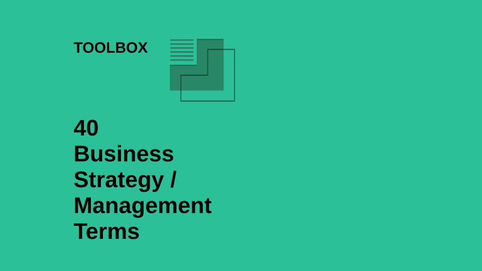 Toolbox terms business management strategy